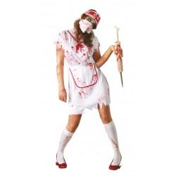 Disfraz enfermera zombie talla m mujer