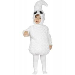 Disfraz fantasma blanco para bebe tallas halloween