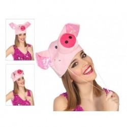 Gorro cerdita rosa gracioso orejas