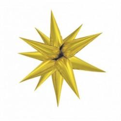 Estrella con globos 70 cm 3d para montar color oro