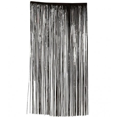 Cortina negra 100 x 200 cms barata para decoracion halloween - Cortinas negras decoracion ...