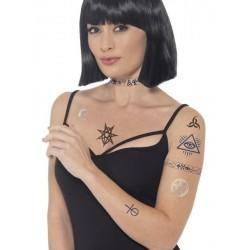 Tatuajes egipcios para la piel complemento disfraz