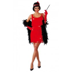 Disfraz charleston rojo años 20  80491 gui