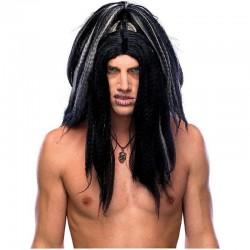 Peluca voodoo brujo siniestro vudu hechicero 51702