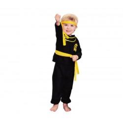 Disfraz ninja amarillo bebe 1-2 años talla t infat