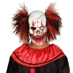 Mascara payaso sanguinario con pelo joker