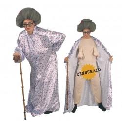 Disfraz abuela exhibicionista para hombre talla l