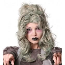 Peluca zombie mujer canosa 4820