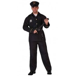 DISFRAZ POLICIA ADULTO TALLA M L NACIONAL BARATO