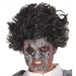 Peluca negra zombie rockero o discotequero 4900