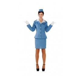Disfraz azafata azul chica talla m-l 706246