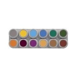 Paleta de maquillaje 12 colores grimas