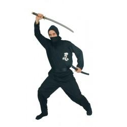 Disfraz ninja negro para adulto barato guerrero