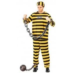 Disfraz prisionero preso amarillo negro los dalton