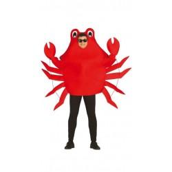 Disfraz cangrejo crustaceo rojo adulto gracioso