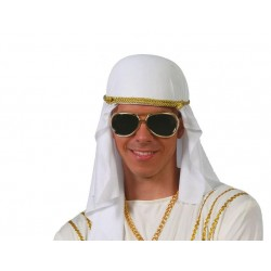 Tocado arabe tela sombrero gorro jeque 13708
