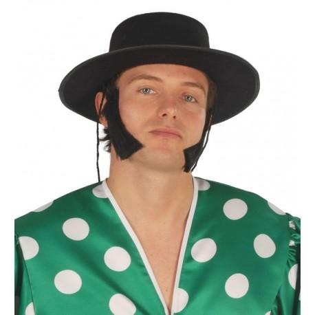 Sombrero cordobes negro flocado 13342 gui. Disfraces baratos online 019e1b79aae