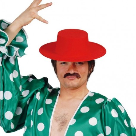 Sombrero cordobes rojo de fieltro 13627 gui. Disfraces baratos online 488eba3f4a32