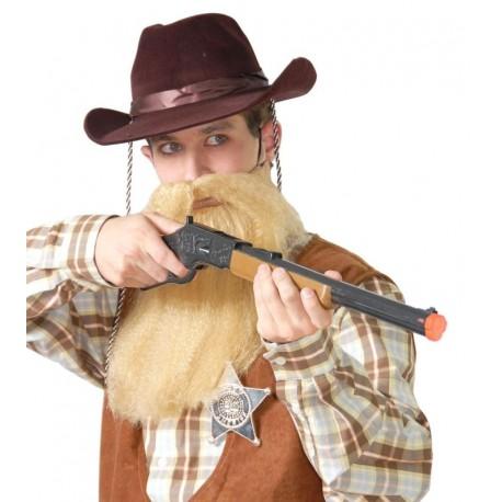 Sombrero vaquero flocado marron 13314 gui. Disfraces baratos online 4a9b4ed295c