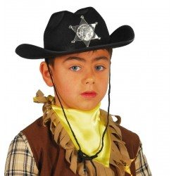 Sombrero sheriff negro infantil 13563 gui