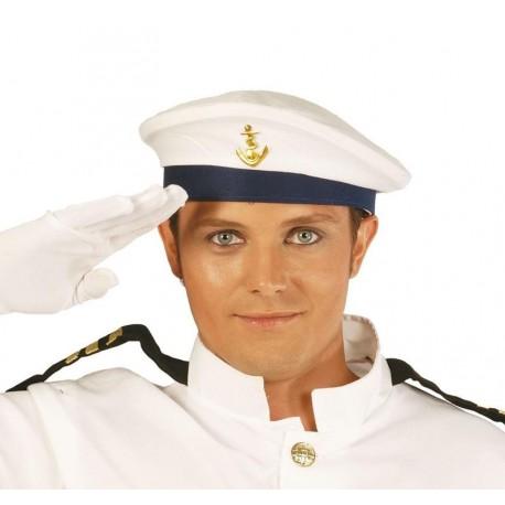 Gorra marinero blanca con ancla 13904 gui. Disfraces baratos online ea9cb428c92
