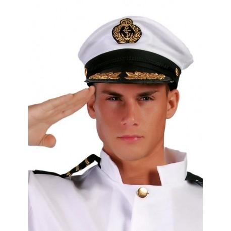 Gorra capitan de barco yate 13958 gui. Disfraces baratos online 77186289132