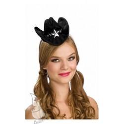Mini sombrero sheriff negro