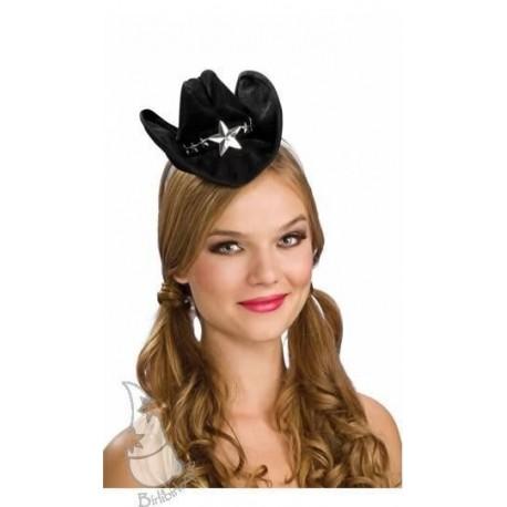 Mini sombrero sheriff negro. Disfraces baratos online b2d987ac3a7