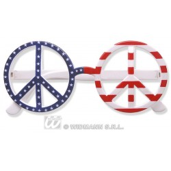Gafas paz y amor bandera usa eeuu