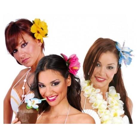 FLOR HAWAINA CON PINZA 2 UNIDADES PARA EL PELO 164