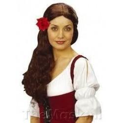 Pinza del pelo rosa roja 10 cm 2435r