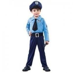 DISFRAZ POLICIA 2 4 ANOS AZUL 706228 INFANTIL