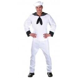 Disfraz marinero blanco raso 80616 gui