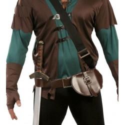 Cinturon medieval con bolsa porta espada 18404