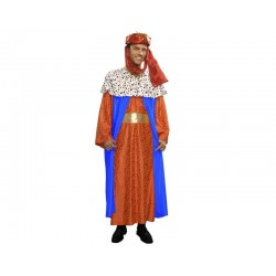 Disfraz de rey mago azul melchor  adulto navidad. Divertido y original disfraz barato navideño . Envíos 24/48 horasoras