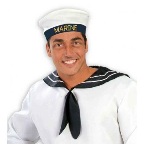 Gorra marinero marine blanca y azul 13984 gui. Disfraces baratos online e69bfa0d0b7