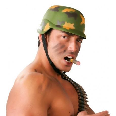 Casco militar bimeta camuflaje 13982 gui. Disfraces baratos online be9bbba411d