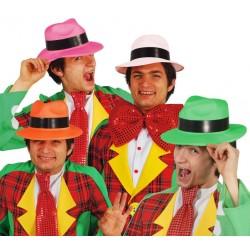 Sombrero ganster plastico colores surtidos fiesta baratos