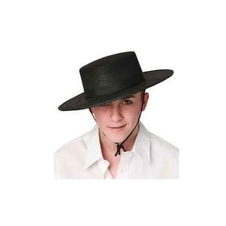 Sombrero cordobes fieltro negro lujo. Disfraces baratos online 6c643fcc4aa9