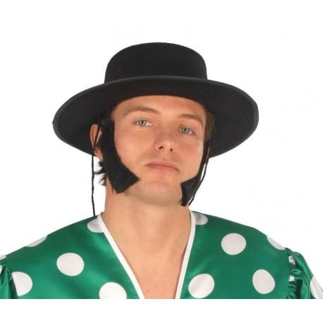 Sombrero cordobes negro fieltro feria 13503 gui. Disfraces baratos ... 6fdd29353fca