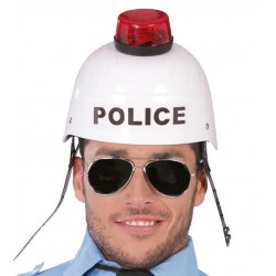 CASCO POLICIA CON SIRENA LUZ Y SONIDO 13273 GUI