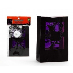 Lampara de decoracion purpura 17 cm bruja bolsa