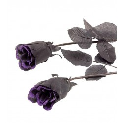 Rosa negra 65 cm para decoracion halloween 19366