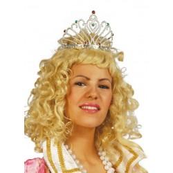 Diadema plata princesa reina 16107 gui