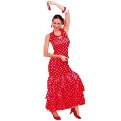 Disfraz sevillana roja flamenca 80629 gui