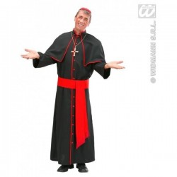 Disfraz cardenal negro y rojo talla m adulto 73642