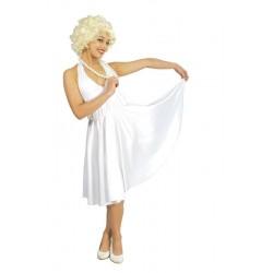 Disfraz marilyn blanco talla M o L