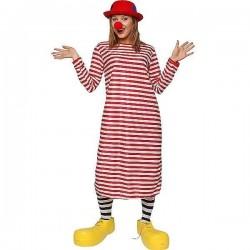 Disfraz payaso rayas rojas de la tele s8132 adulto