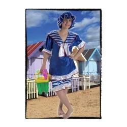 Disfraz mujer bañista años 20 baños de ola 9176300