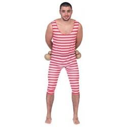Disfraz bañista chico años 20 rayas retro 705924